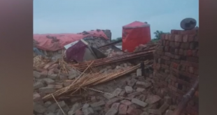 houses collapsed due to heavy rains