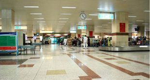 Passengers stopped at Lahore Airport
