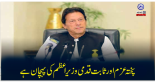 Strong determination and steadfastness is the hallmark of the Prime Minister