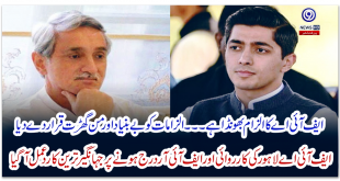 Jahangir Tareen's reaction came after the FIA Lahore operation and FIR was registered