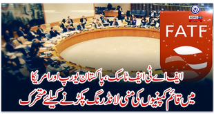 FATF task, Pakistan mobilized to catch money laundering of companies based in Europe and America