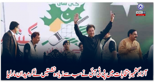 In the Azad Kashmir elections, the PTI won the most seats