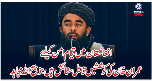 Imran Khan's efforts for peace in Afghanistan are commendable: Zabihullah Mujahid