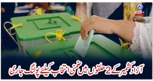 Polling continues for by-polls in 2 constituencies of Azad Kashmir